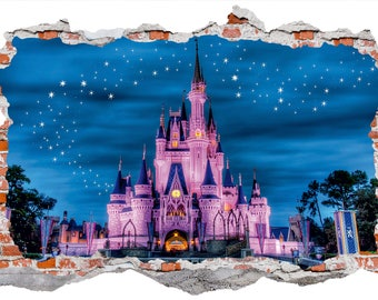 DISNEY CASTLE Wall Decal Wall Sticker