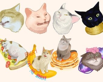 "Sticker set ""Kitties from internet I"""