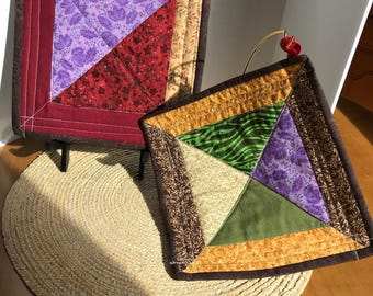 Pair of Quilted Pot Holders