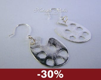 Palette Earrings Designers jewelry Silver plated copper earrings Discount