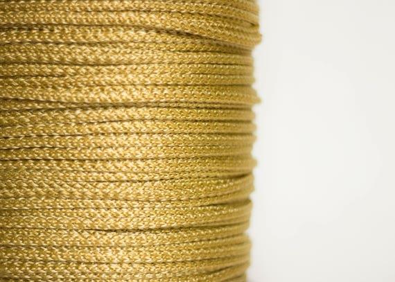 5 mm (0.20 in) 208 yards Gold cord rope yarn crochet rope wrapping string  DIY supplies thread craft macrame cord string art from RopeYarnDIY on Etsy  Studio