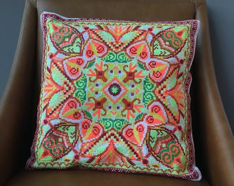 Indian Embroidered Suzani Cushion Cover