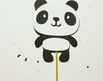Panda bear cake topper, panda bear centerpieces, panda birthday party cake topper. Panda bear babyshower centerpieces, panda bear babyshower