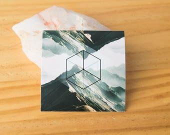 Earth Platonic Solid Geometry Sticker - Air Vinyl Stickers, stability, energy, ancient symbol, crystal grid, boho, tarot, elements, magic
