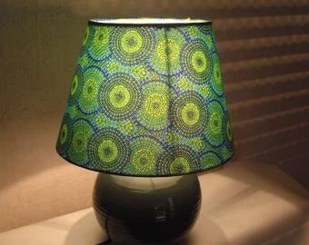 Vintage 1970's Peacock green bedside lamp