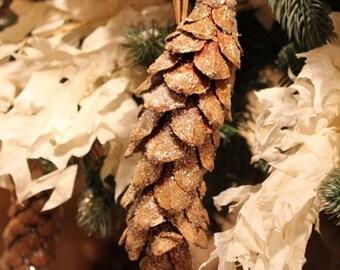 Snow Glittered Strobus Pine Cones | Pine Cones | Snow Covered Pine Cones