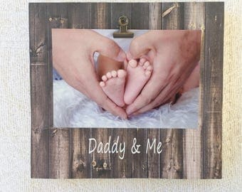 Daddy and me frame, Father's Day frame, Father's Day gift, dad frame, Father's Day, personalized dad gift