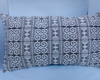 Black and White Tribal Print Cushion