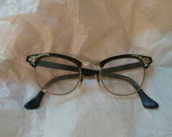 "1950s 5 1/2 Cateye Glasses ""MARINE"""