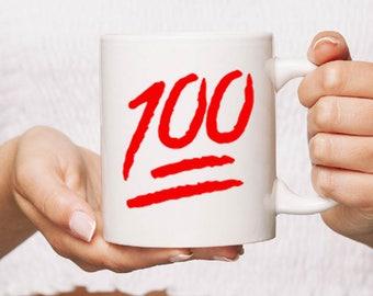Keep it 100 Ceramic Mug Gift Coffee Mug Personalised  funny humour Tea Cup