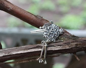 Pendant with kiwi, Kiwi pendant, Kiwi, Wedgbill, New Zealand national symbol, New Zealand, Animalism, Sterling silver pendant, Blacking