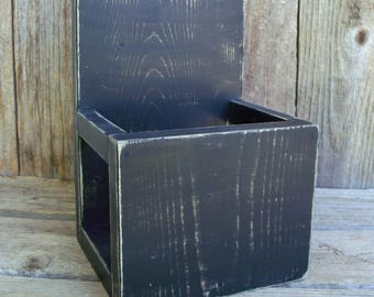 Rustic Wood Tri-fold Brochure or Menu Holder,Stand, Side Enclosures, Brochure Stand, Brochure Display, Literature Holder, Menu Holder