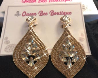 Golden Topaz Chandelier  Earrings  Gold