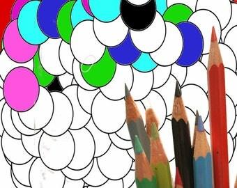 Mandala 005, coloring page