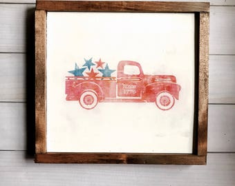 Vintage 4th Of July Truck