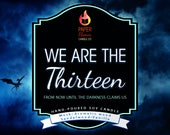 PRE ORDER *** We Are The Thirteen - Hand-Poured Soy Wax Candle Inspired By The Throne Of Glass Series