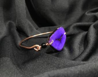 Tagua and copper bangle