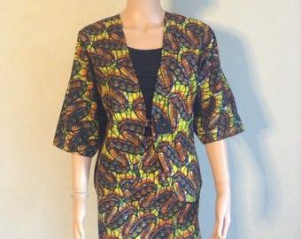 Tailor wax 36/38/40/42/44/46/48 kimono jacket and skirt