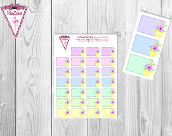 Printable Water the Flowers Boxes - Functional Stickers w/Cut Line