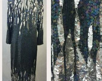 Vintage Sequin Beaded Dress