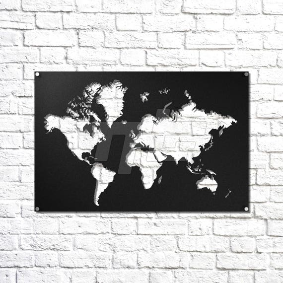World map metal wall art like this item gumiabroncs Image collections