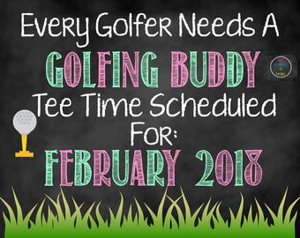 Golfer Pregnancy Announcement, Golfing Announcement, Pregnancy Announcement, Golf Buddy