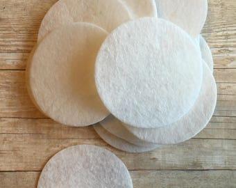 """1.5"""" Die Cut Felt Circles, White felt circles, DIY headbands, Felt Circles, 1.5"""" Circle"""