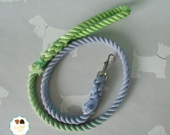 Blue/Green Ombre Rope Dog Lead / Rope Dog Leash / 4ft Rope Dog Lead / 12mm / Rope Lead / Rope Leash / Pet Supplies / Ombre