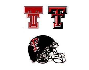 Texas Tech svg Texas svg University svg Football logo svg Logo svg Cut table Design svg dxf png eps