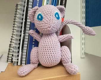 Crochet Mew Plush Amigurumi Pokemon