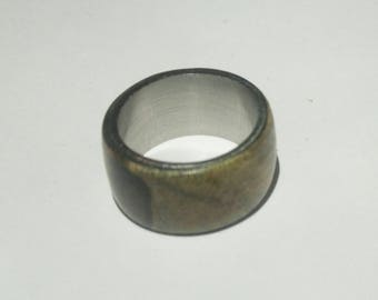 drift wood ring with stainless