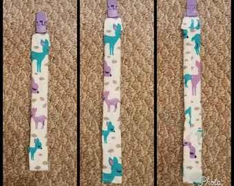 Baby Girls Pacifier Clips