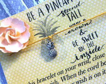 Be A Pineapple Wish Bracelet, Wish Upon Your Wrist, Pineapple Wish Bracelet, Royalty Wish Bracelet,IVF Wish Bracelet,IVF Gift, Wish Bracelet