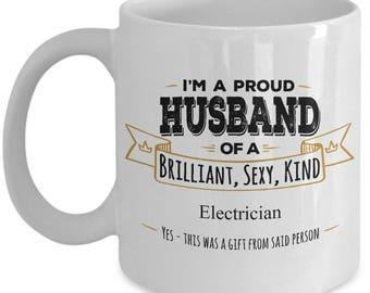 Gift For Electrician, Gift for Husband, Electrician Mug, Electrician Coffee Mug, Electrician gifts, Husband Coffee Mug