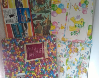 Lot of 5 different wrapping paper
