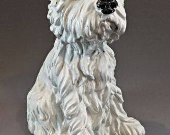 Vintage animal figurine of a dog Westie - 1.6 kg - 34 cm-