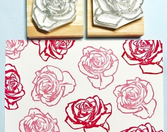 Vintage Rose Prints Rubber Stamp Set