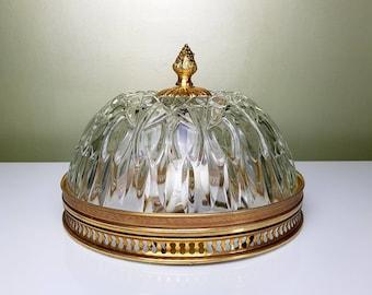 Gold banding glass Globe ceiling light