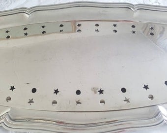 Big 75 cm Serving platter with drainer for Fish - Christofle Paris - Silverplated