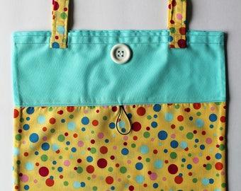 Fold Up Take Along Tote Bag Road Trip Travel Fun Bag Library Book Bag Homework Tote Coloring Book Crayon Tote Diaper Tote Baby Shower Gift