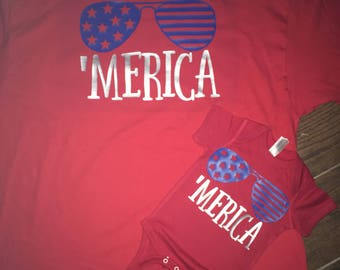 Matching father son Fourth of July shirts
