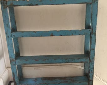 Vintage, rustic look shelving unit