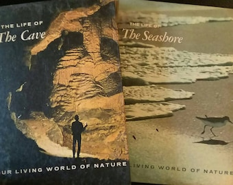 We are selling two wonderful books from 1966, Hope you enjoy. The titles of the books are The life of The Cave and The life of The Seashore.