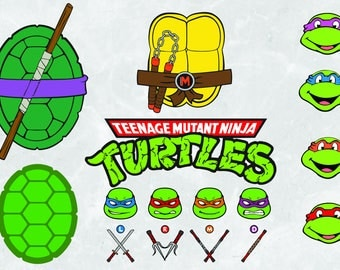 TNMT clipart | Ninja turtles svg | 300 PPI