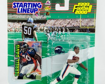 Starting Lineup 1999 NFL Denver Broncos Terrell Davis Action Figure