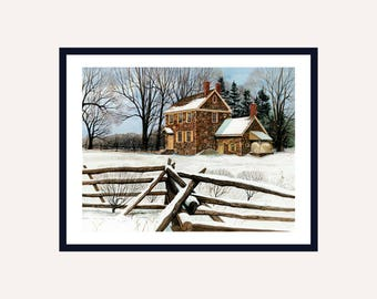 Winter Quarters Print || Watercolor Print