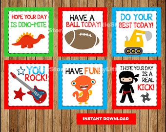 Lunch Box Notes for Kids, Lunch Notes , Funny Lunch Box Notes Instant download