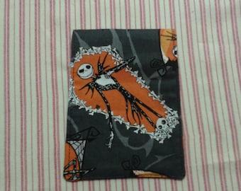 "Jack Skellington fabric gift bags set of 3. (3x4"") Jack Skelly bags. Nightmare before Christmas fabric gift bags. Halloween fabric treat bag"