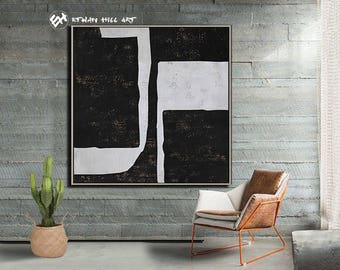 Textured Painting Large Wall Art Canvas Painting, Acrylic Painting on Canvas, Modern Art- Ethan Hill Art No.H137S