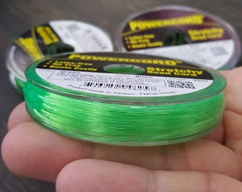25 meters powercord stretchy beads cord green, Size 0.8mm.